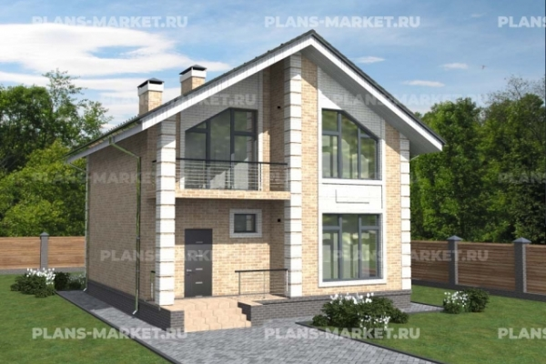 Проекты домов с балконом