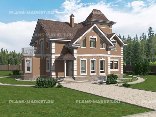 Готовый проект загородного дома Гс-231