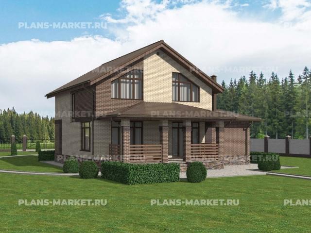 Готовый проект загородного дома К-128