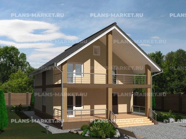 Готовый проект загородного дома К-115