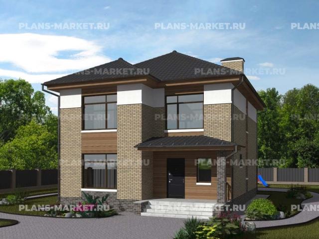 Готовый проект загородного дома Гс-153-1