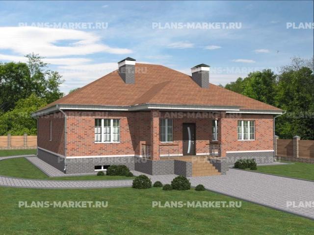 Готовый проект загородного дома Гс-157-1