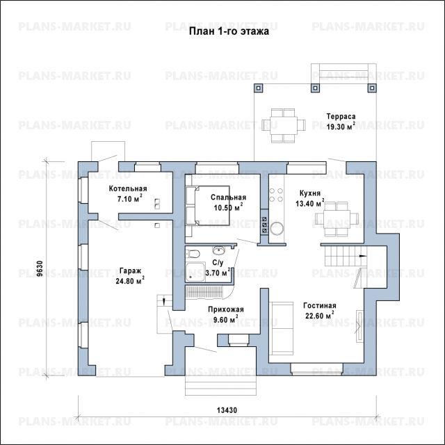 Готовый проект загородного дома К-145