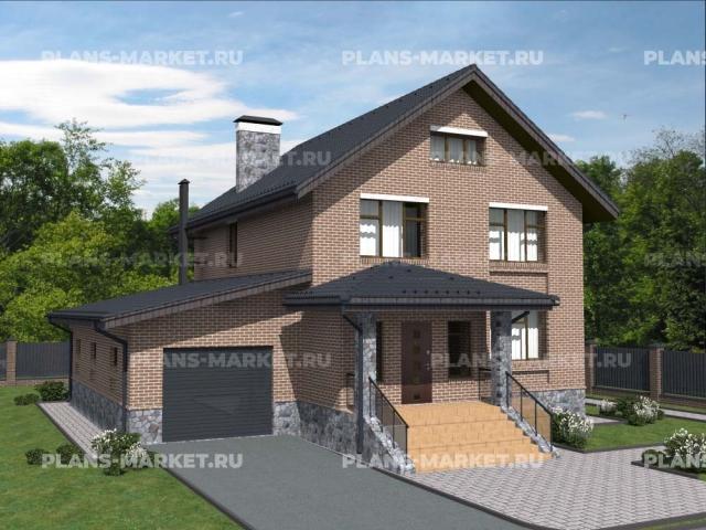 Готовый проект загородного дома Гс-198а