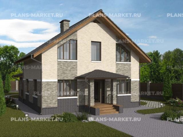 Готовый проект загородного дома К-109