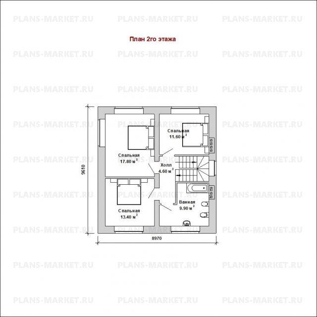 Готовый проект загородного дома К-150