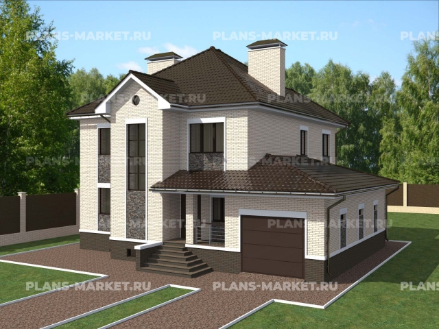 Готовый проект загородного дома К-215