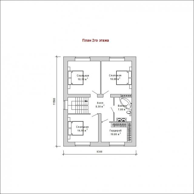 Готовый проект загородного дома Гс-153б