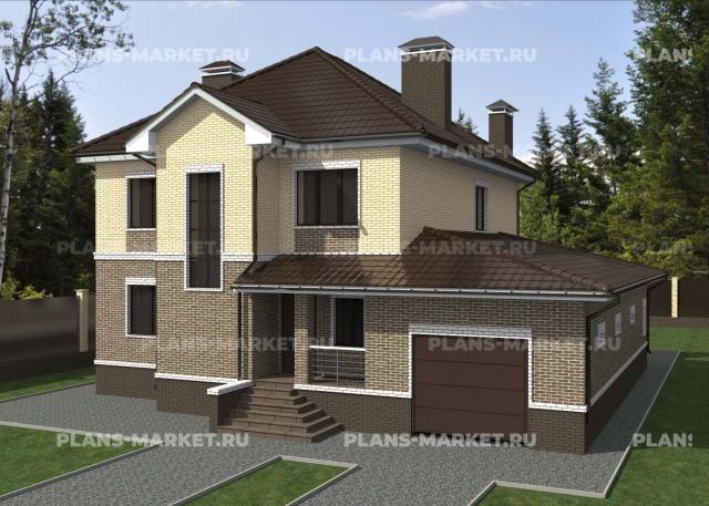 Готовый проект загородного дома К-237