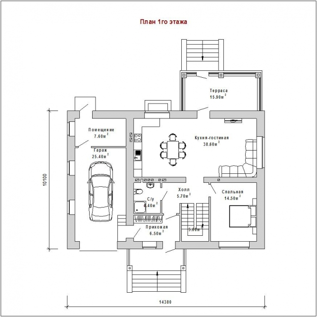 Готовый проект загородного дома Гс-173а
