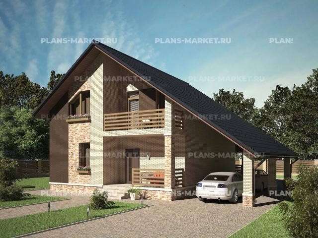 Готовый проект загородного дома Гс-118б