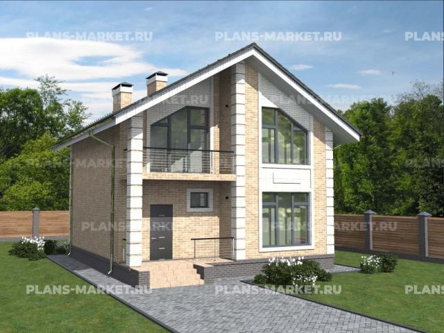 Готовый проект загородного дома Гс-109