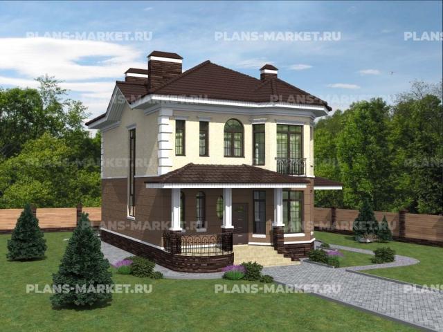 Готовый проект загородного дома К-158