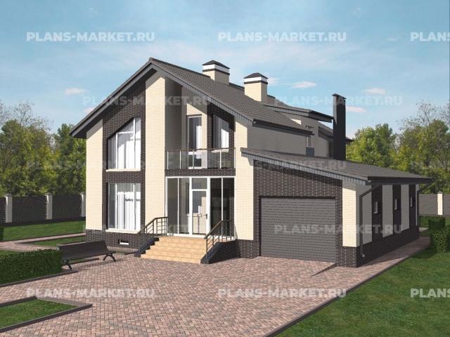 Готовый проект загородного дома Гс-188