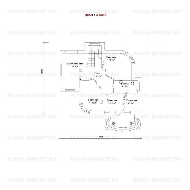 Готовый проект загородного дома К-147-1