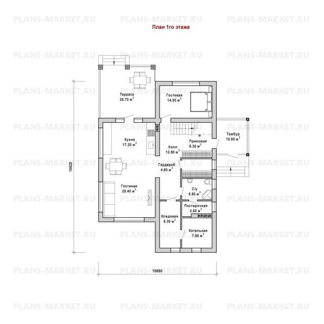 Готовый проект загородного дома Гс-211
