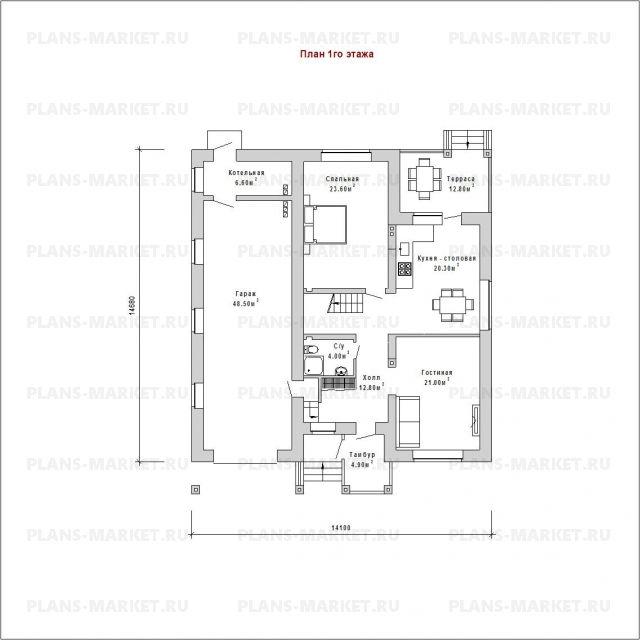Готовый проект загородного дома К-213а