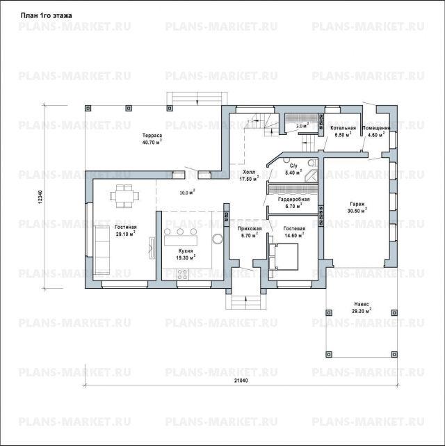 Готовый проект загородного дома Гс-283
