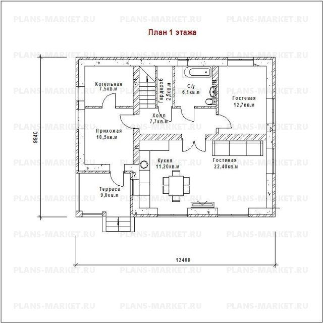 Готовый проект загородного дома Гс-167