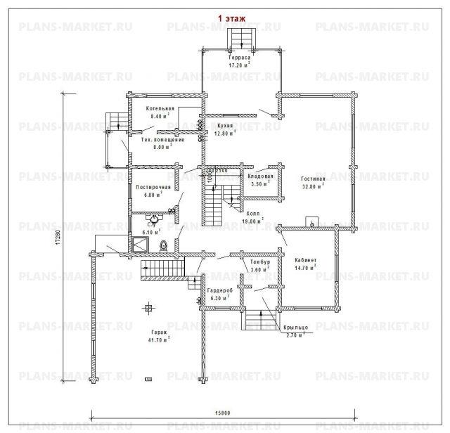 Готовый проект загородного дома Д-265