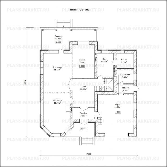 Готовый проект загородного дома К-334