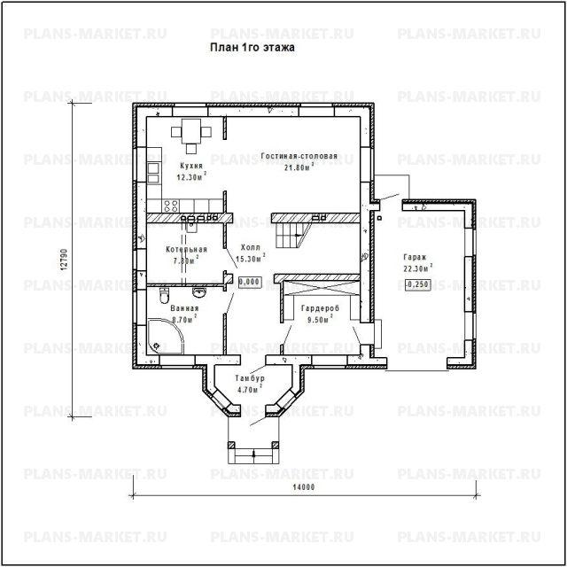 Готовый проект загородного дома Гс-179