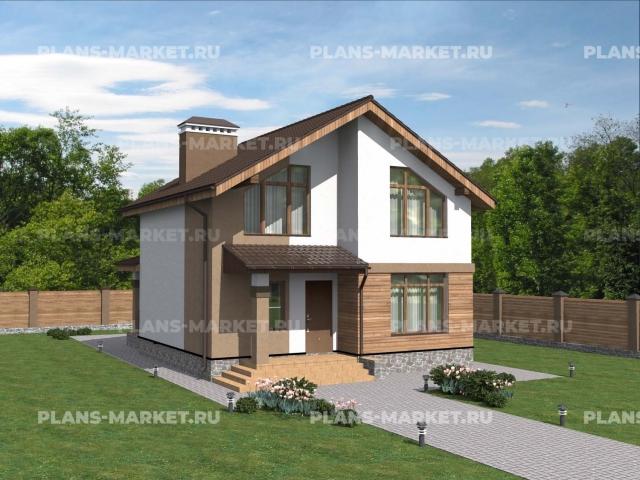 Готовый проект загородного дома Гс-104
