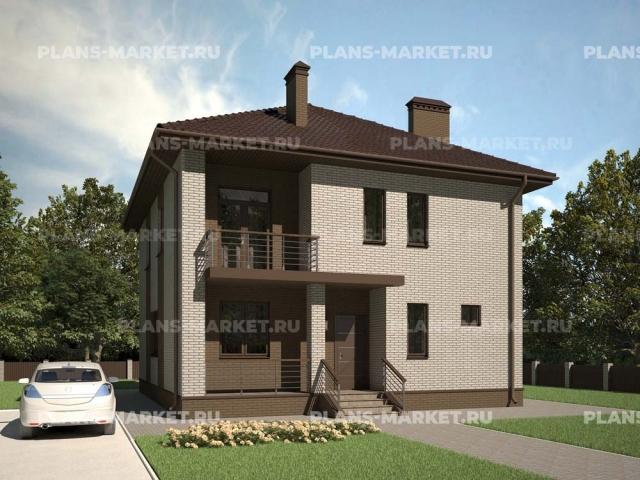 Готовый проект загородного дома К-144
