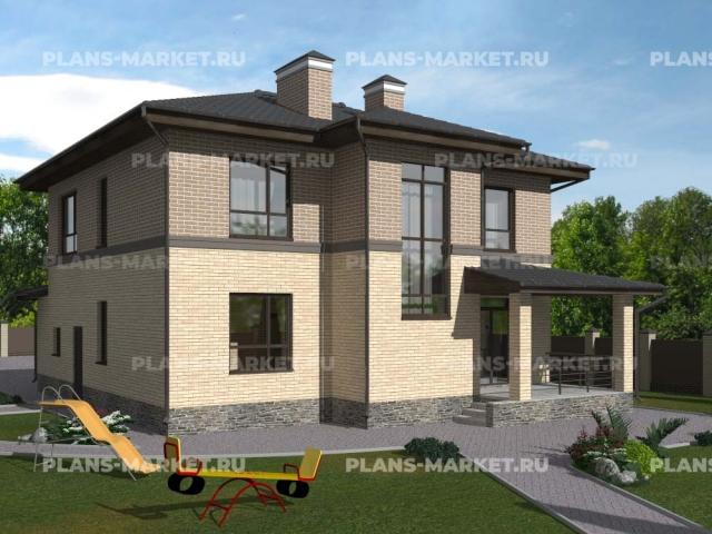 Готовый проект загородного дома Гс-191
