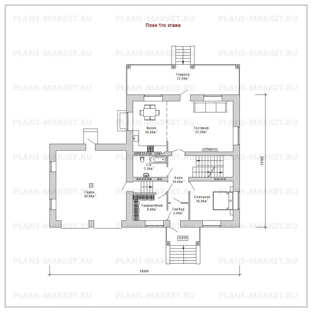 Готовый проект загородного дома К-249