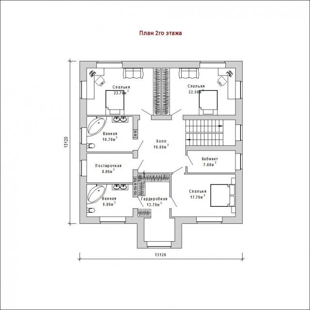 Готовый проект загородного дома К-260