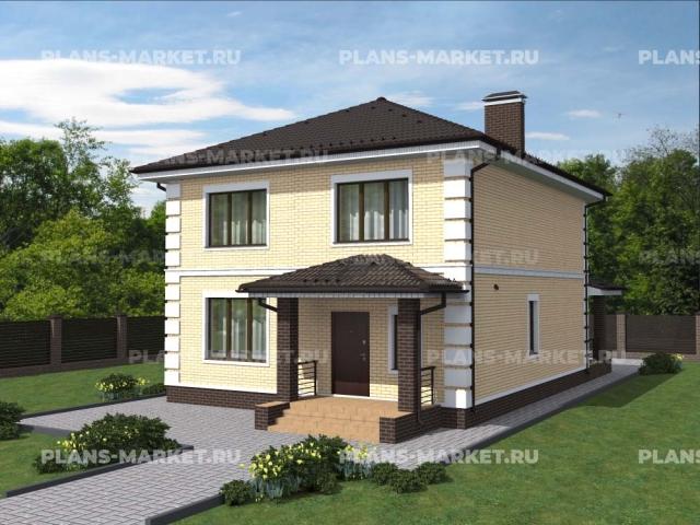 Готовый проект загородного дома Гс-153