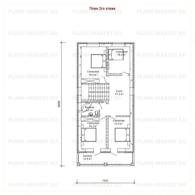 Готовый проект загородного дома Гс-155