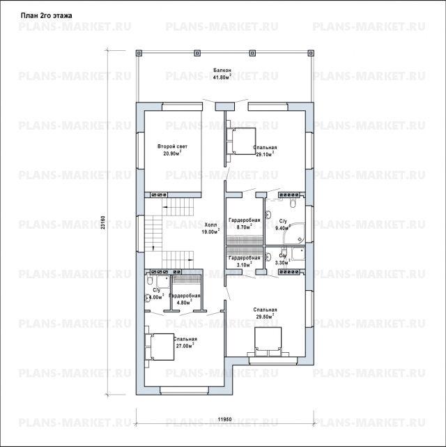 Готовый проект загородного дома Гс-484