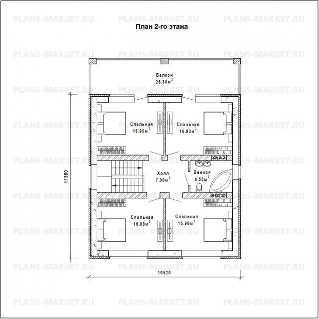 Готовый проект загородного дома К-165