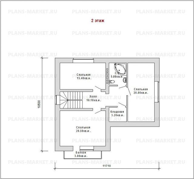 Готовый проект загородного дома Гс-162а