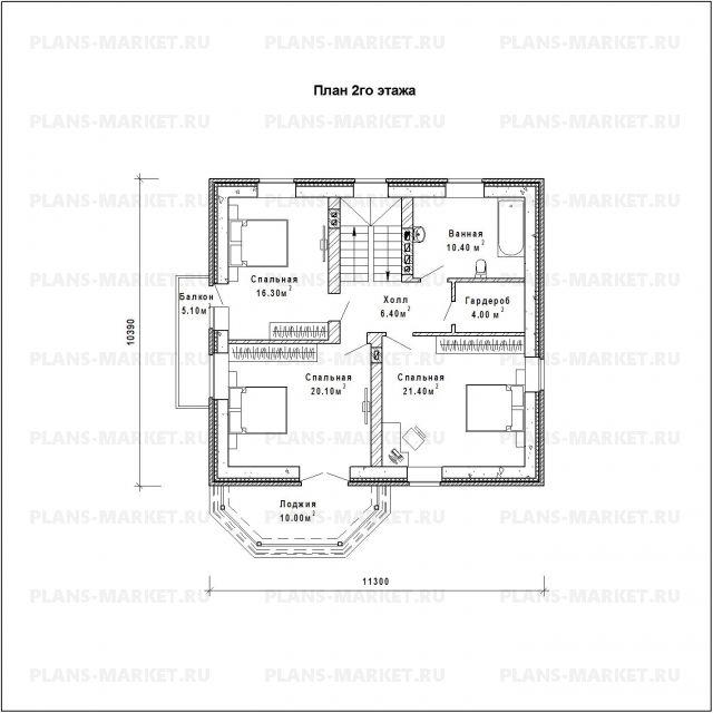 Готовый проект загородного дома К-159а