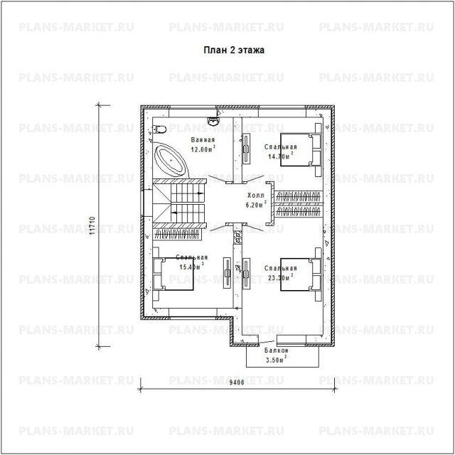 Готовый проект загородного дома Гс-185а