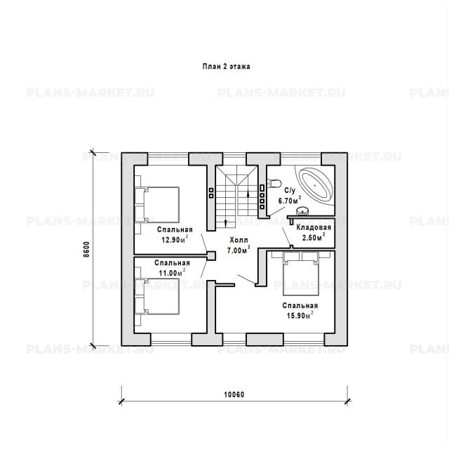 Готовый проект загородного дома Гс-120-1