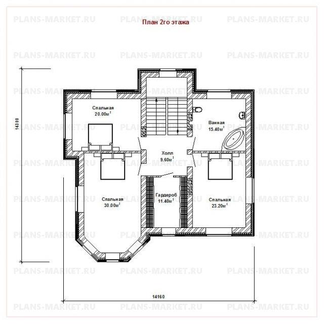 Готовый проект загородного дома К-244
