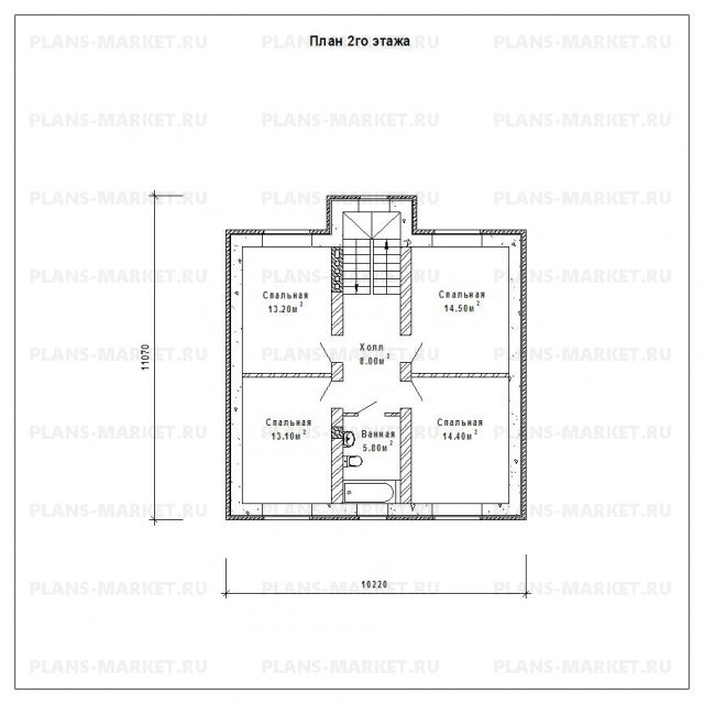 Готовый проект загородного дома Гс-163а