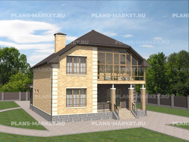 Готовый проект загородного дома Гс-154