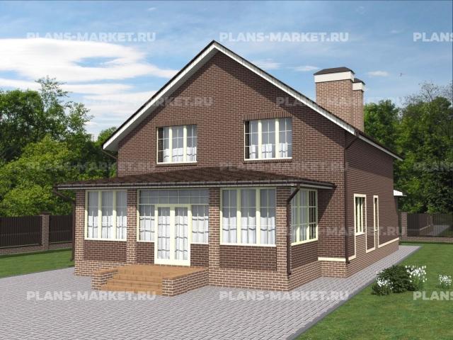 Готовый проект загородного дома К-203