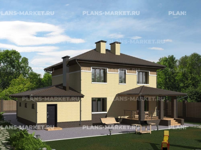 Готовый проект загородного дома К-109а
