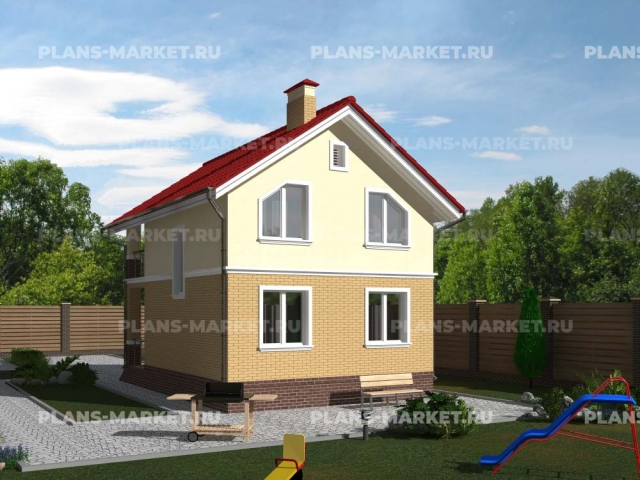 Готовый проект загородного дома Гс-61
