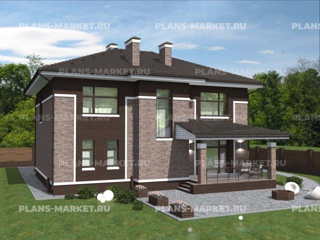 Готовый проект загородного дома К-117