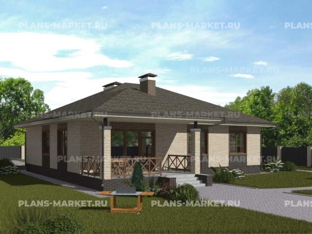 Готовый проект загородного дома Гс-131