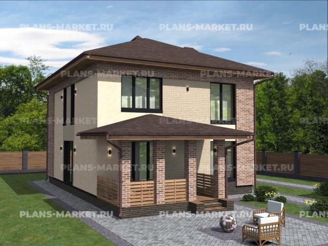 Готовый проект загородного дома Гс-137-1