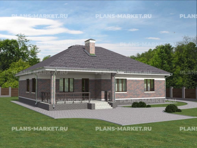Готовый проект загородного дома К-149