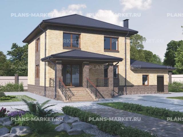 Готовый проект загородного дома К-208
